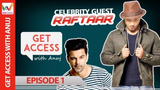 Anuj with Raftaar